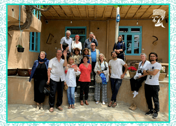 Visitors from french from Qarapapaqs Ecolodge of Hasanlu in Naghadeh